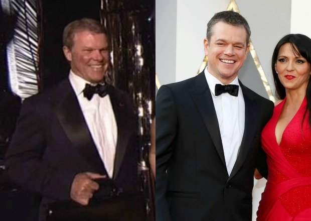 Sobowtór Matta Damona/Matt Damon z żoną