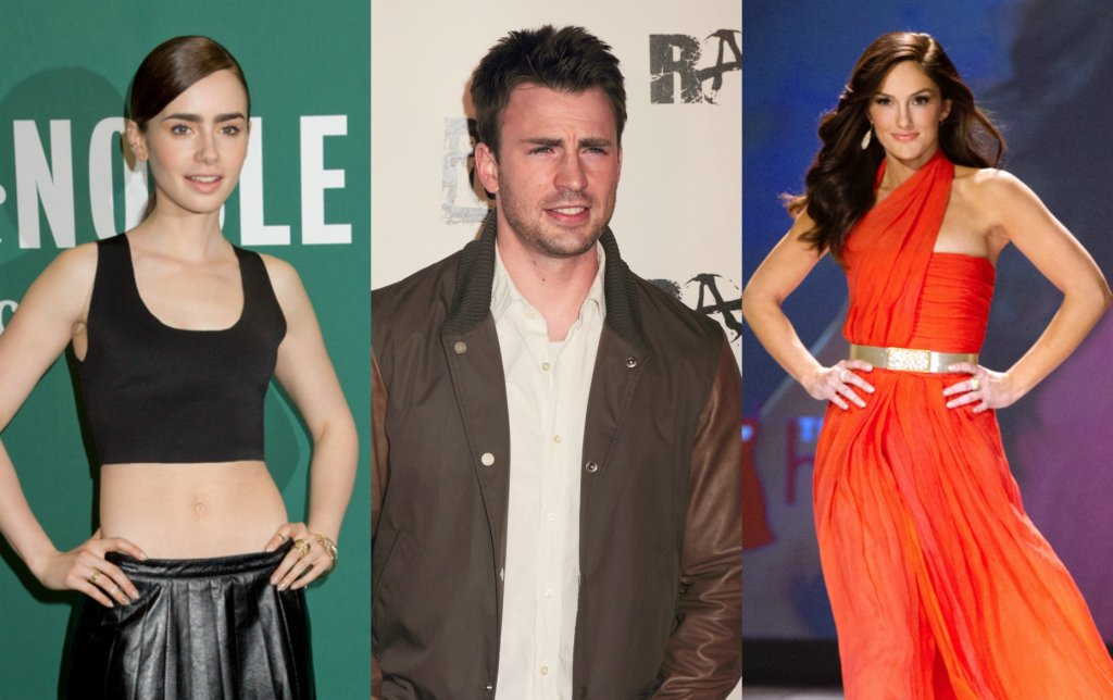 Lily Collins, Chris Evans, Minka Kelly