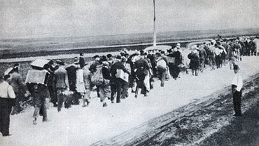 1 września 1939, polscy cywile uciekają przed Niemcami