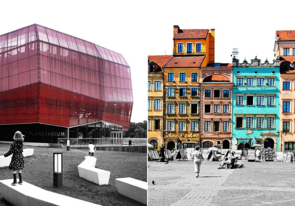 Kolaż ilustracji z blogu When in Warsaw