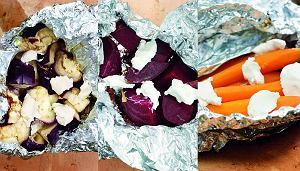 Grillowane warzywa z serem kozim i tymiankiem