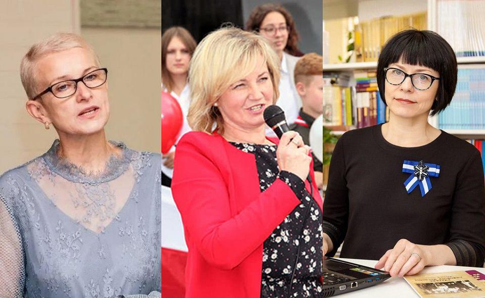 Działaczki mniejszości polskiej z Białorusi Irena Biernacka, Maria Tiszkowska i Anna Paniszewa