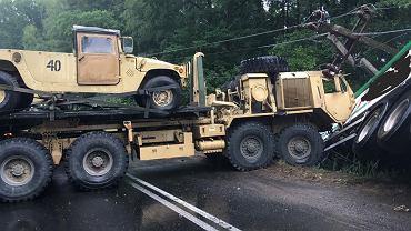 Konotop. Wypadek z udziałem ciężarówki armii USA
