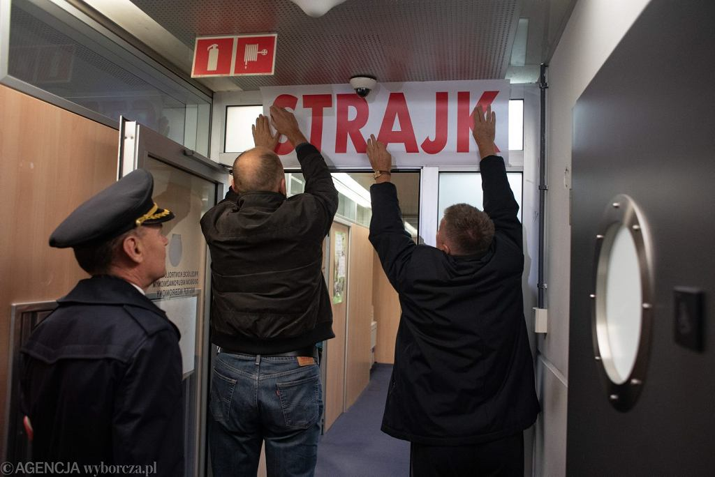 Strajk pracownikow PLL Lot