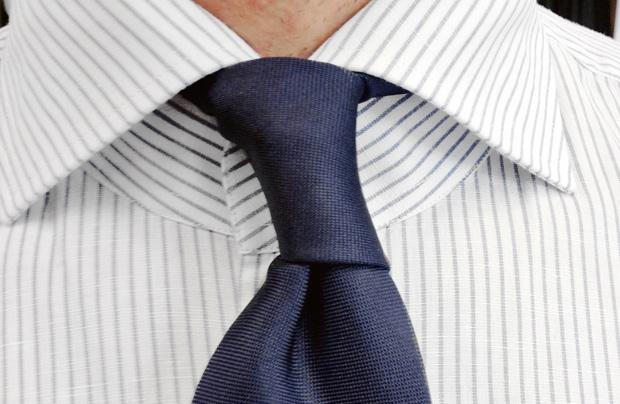 Akademia stylu: jak nosić krawat, moda męska, akademia stylu, krawat, Krawat - węzeł podwójną pętlą