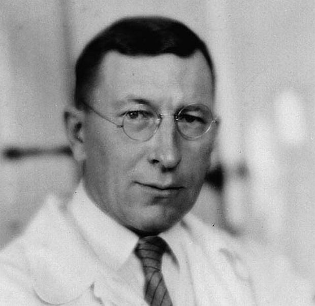 Sir Fredrick Banting, odkrywca insuliny.