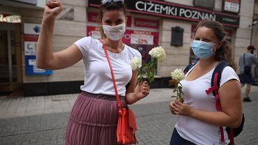 Tak dla Wolności! Nie dla Przemocy! - demonstracja solidarnosci z Białorusinkami i Białorusinami
