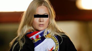 Marzena S., była prezes Wisły Kraków, podejrzana o udział w zorganizowanej grupie przestępczej. Na zdjęciu: podczas podczas meczu Wisła - Cracovia, 10 grudnia 2016