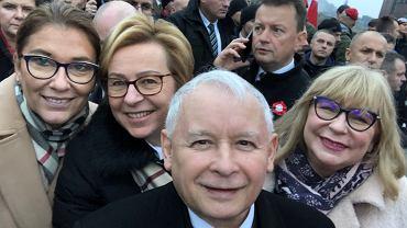 Jarosław Kaczyński na Marszu Niepodległości