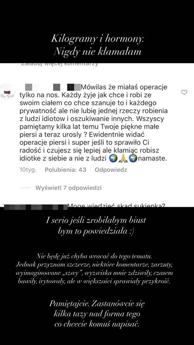Maffashion komentuje plotki o powiększeniu piersi