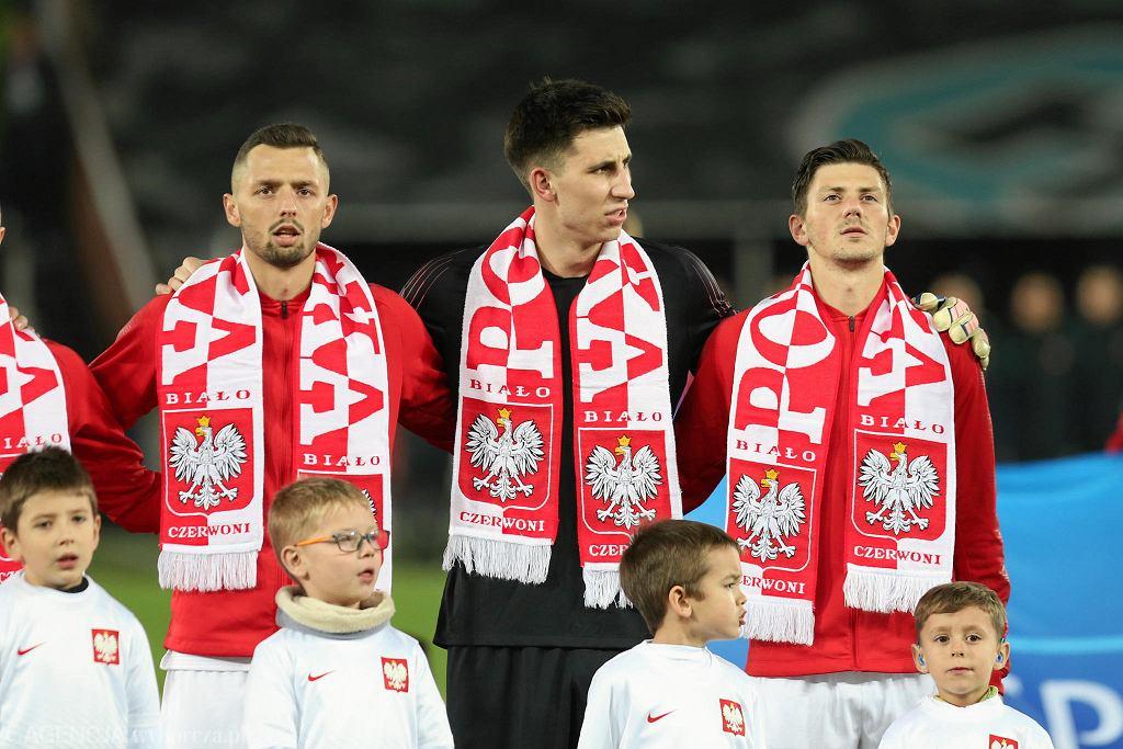 Dawid Kownacki (z prawej) jest kapitanem młodzieżowej reprezentacji Polski