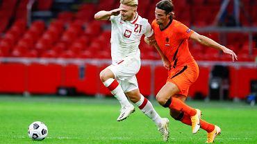 Kamil Jóźwiak w meczu Polski z Holandią