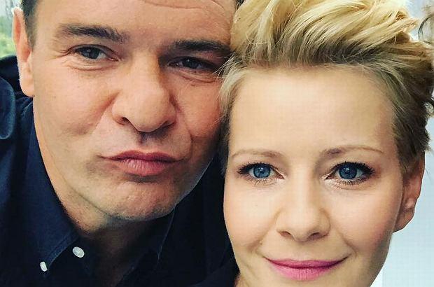 Małgorzata Kożuchowska i Tomasz Karolak