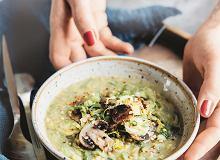 Ekspresowa zupa pieczarkowo-soczewicowa z brukselką - ugotuj
