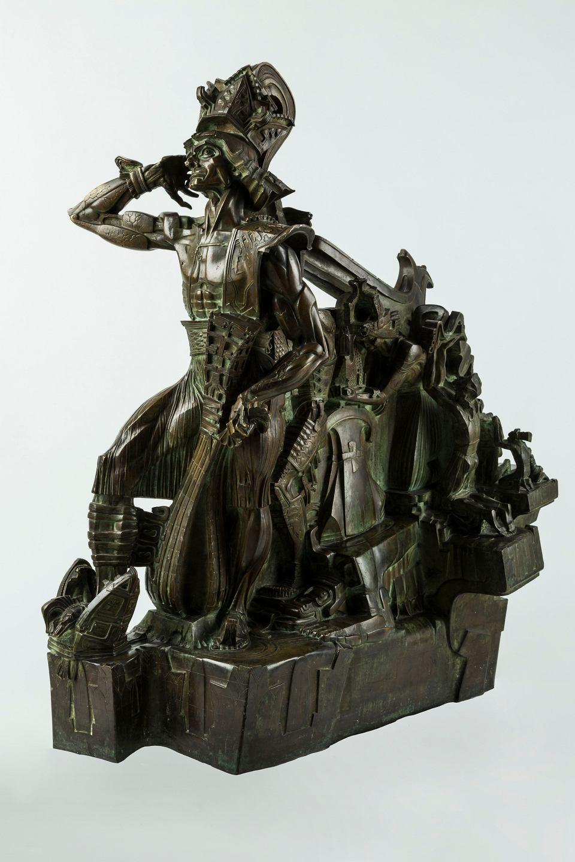 Rzeźba Stanisława Szukalskiego 'Bolesław Śmiały (Prawy)' ze zbiorów Muzeum Górnośląskiego w Bytomiu