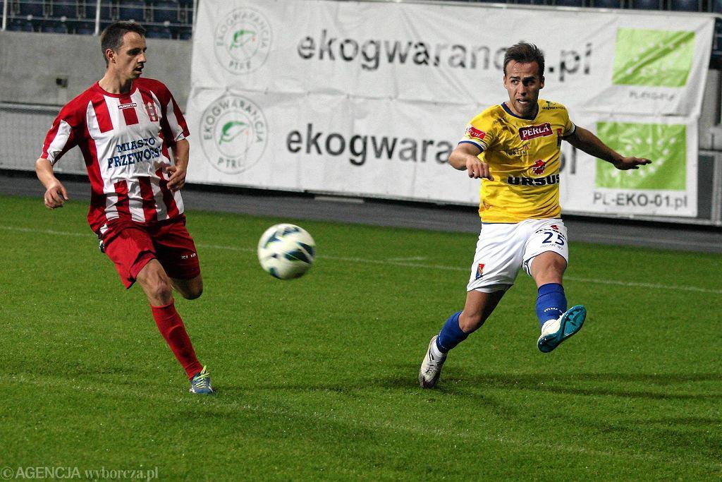 Filip Drozd zdobył w meczu z Orłem Przeworski dwa gole
