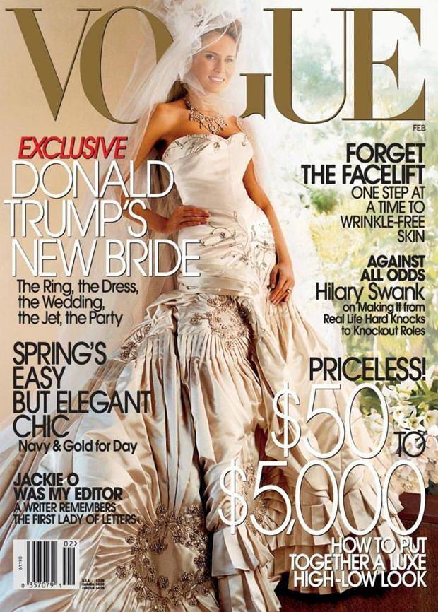 Melania Trump na okładce Vogue'a, luty 2005