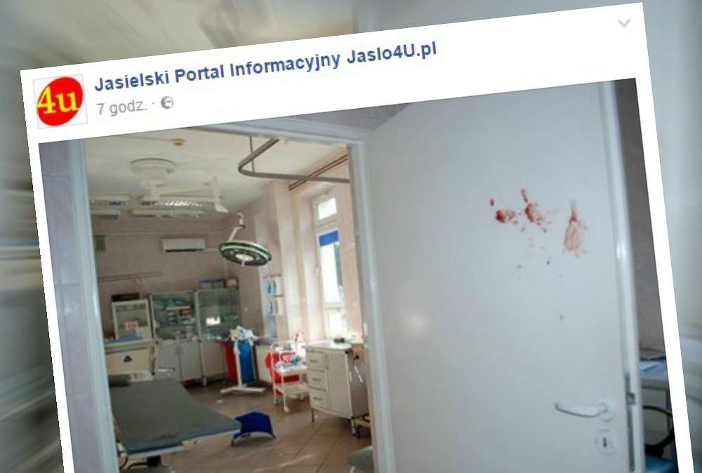 31-latek zdemolował szpital w Jaśle
