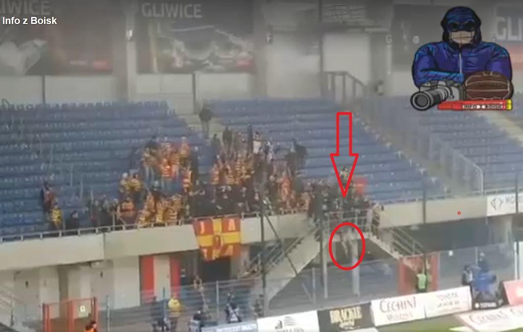 Kibic spadł z trybuny na meczu Piast - Jagiellonia