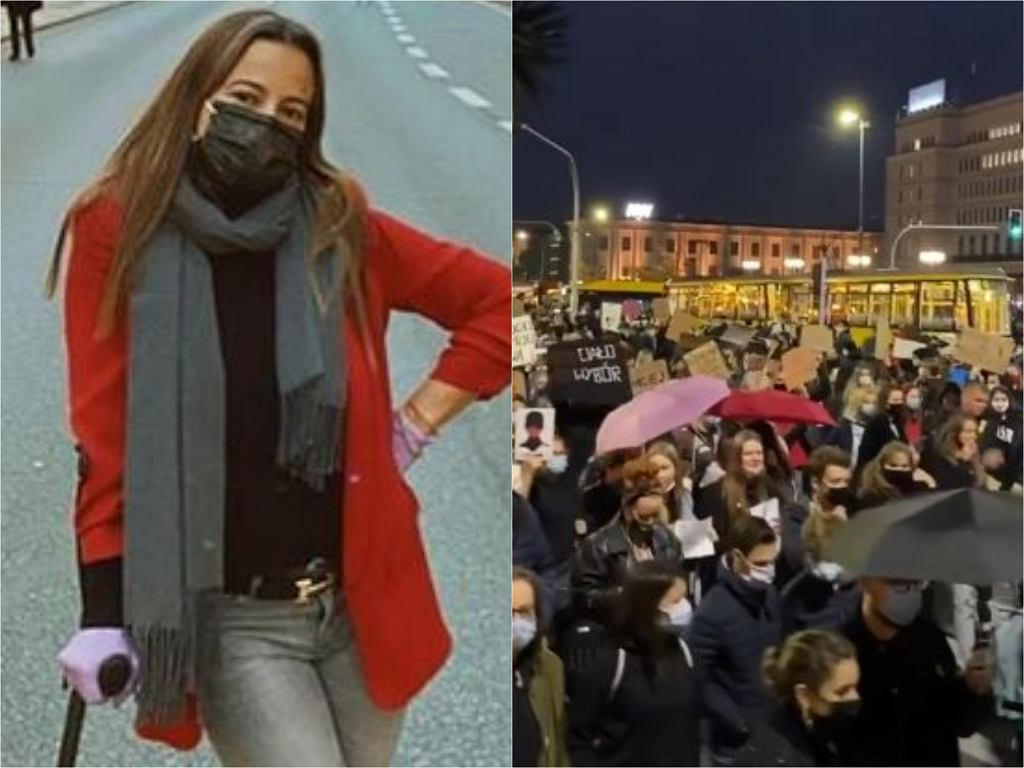 Anna Mucha na protestach