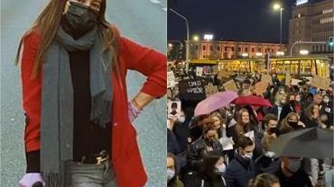 """Anna Mucha na protestach. Poszła o kulach, a na Instagramie pokazała apel do Kingi Dudy. """"Córeczko! Jestem tu dla Ciebie"""""""