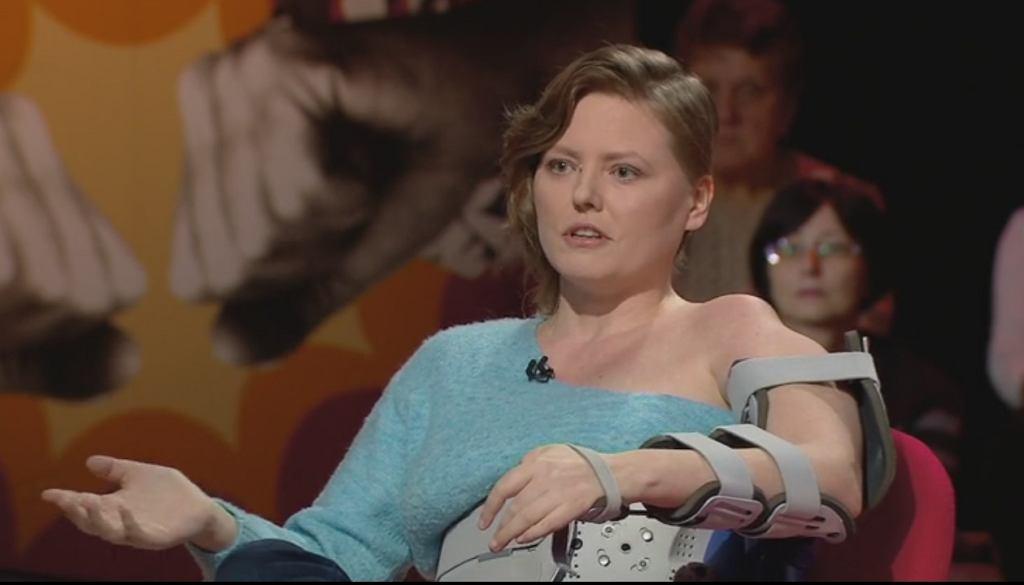 Izabela Olchowicz-Marcinkiewicz w programie 'Skandaliści' Polsat News