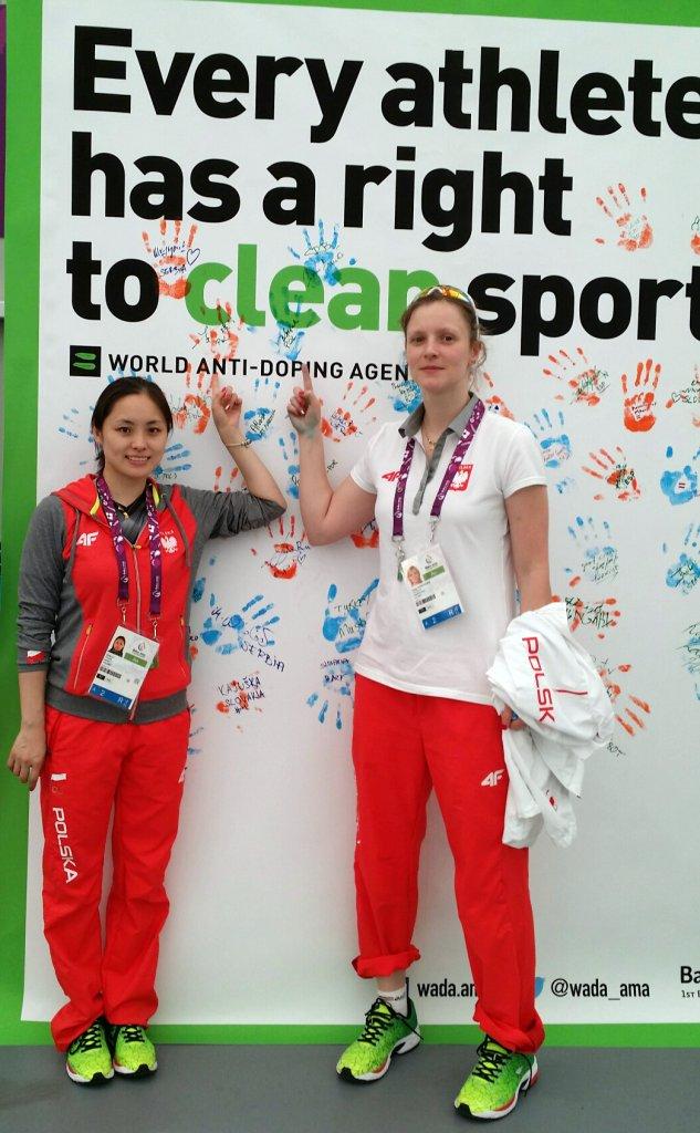Li Qian i Kinga Stefańska podczas Igrzysk Europejskich w Baku