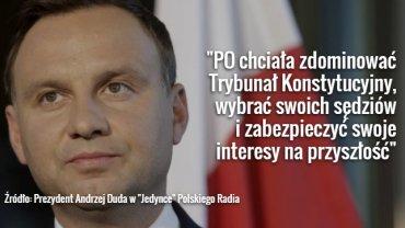 Andrzej Duda o Trybunale Konstytucyjnym