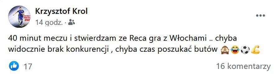 'Polski Beckham' chce ratować kadrę Brzęczka. 'Czas poszukać butów'