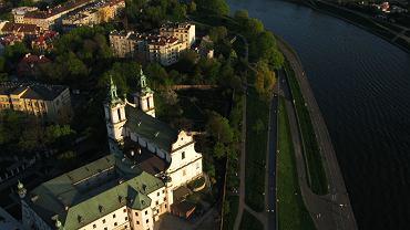 Kraków zdjęcia. Panorama Krakowa, kościół na Skałce / fot. Adam Golec / AG