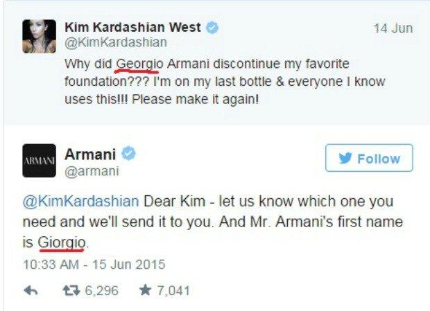 Wpadka Kim Kardashian na Twitterze