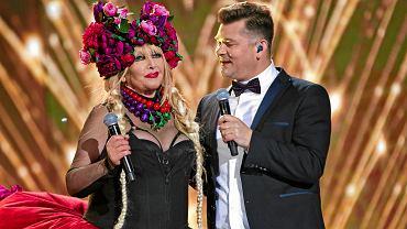 Zakopane. Maryla Rodowicz i Zenek Martyniuk podczas sylwestra TVP w 2017 r.