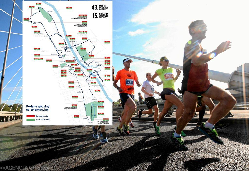 Warszawa utrudnienia 43. Maraton