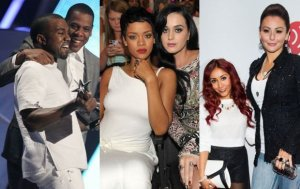 Snooki, Jwoww, Kanye West, Jay-Z, Katy Perry, Rihanna