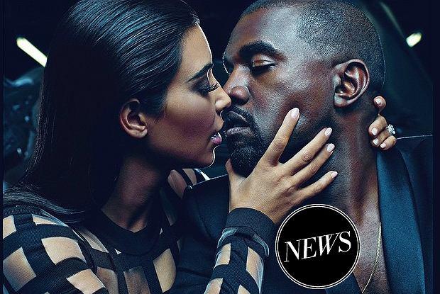 Kim Kardashian i Kanye West w kampanii męskiej kolekcji Balmain wiosna-lato 2014