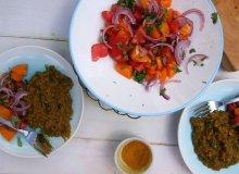 Błyskawiczna soczewica curry z sałatką z pomidorów - ugotuj