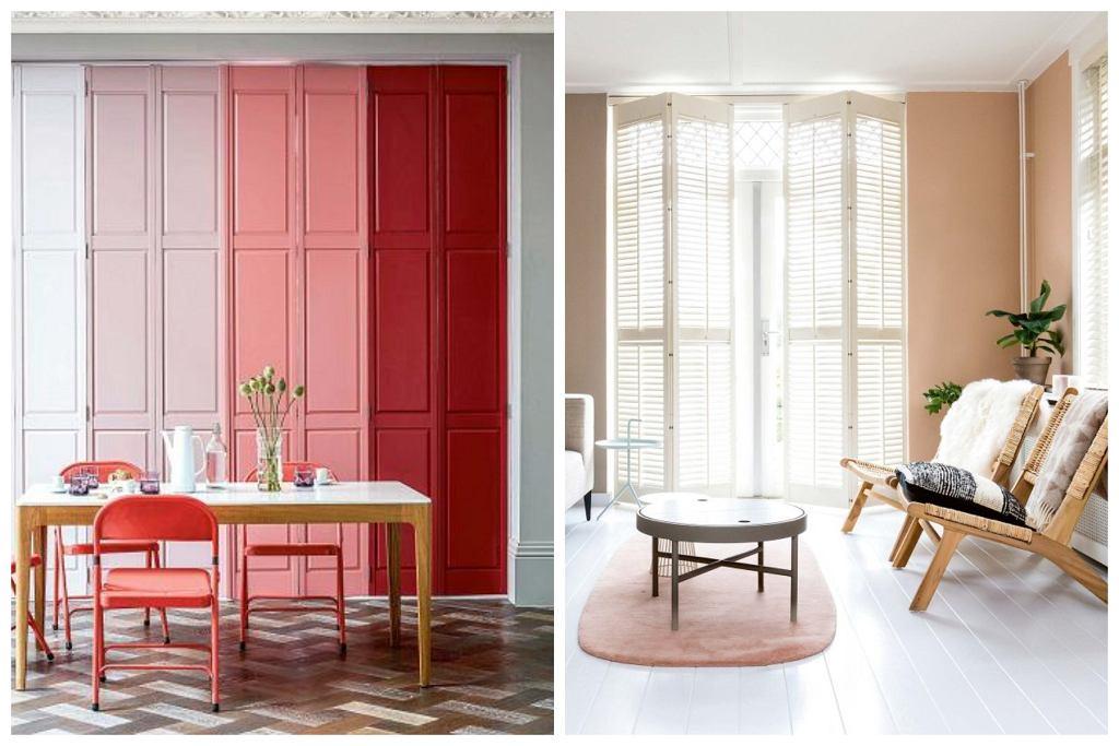 Zdjęcie z lewej: Wewnętrzne drewniane okiennice to nie tylko skuteczne, ale i dekoracyjne rozwiązanie, zwłaszcza przy wysokich balkonowych oknach. Płyciny na okiennicach mogą ciekawie nawiązywać do frontów mebli. Oryginalnie pomalowane staną się atutem wnętrza. Zdjęcie z prawej: Wewnętrzne okiennice, nazywane shuttersami, mogą być składane (na zawiasach) lub przesuwać się po prowadnicach. Najlepiej wybierać modele z ruchomymi lamelkami (działają jak żaluzje), które ustawia się pod różnym kątem, regulując ilość światła wpadającego do pomieszczenia. Latem takie okiennice zapobiegają nagrzewaniu się pomieszczenia, zimą zatrzymują ciepło w środku. na zamówienie Jasno Shutters