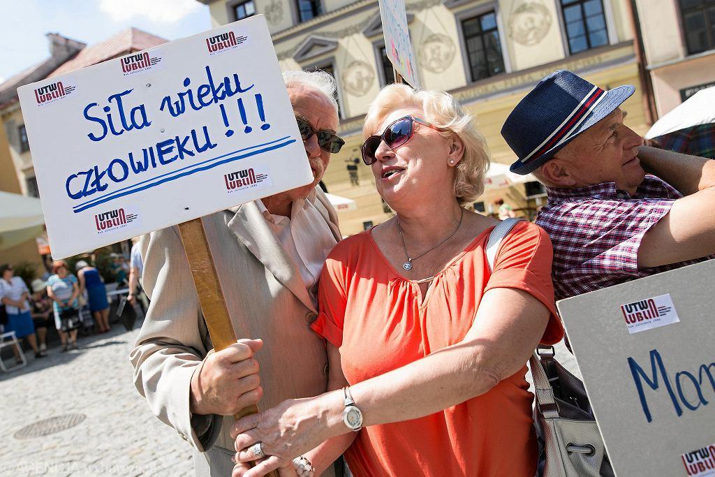 Seniorzy w Lublinie. Zdjęcie ilustracyjne