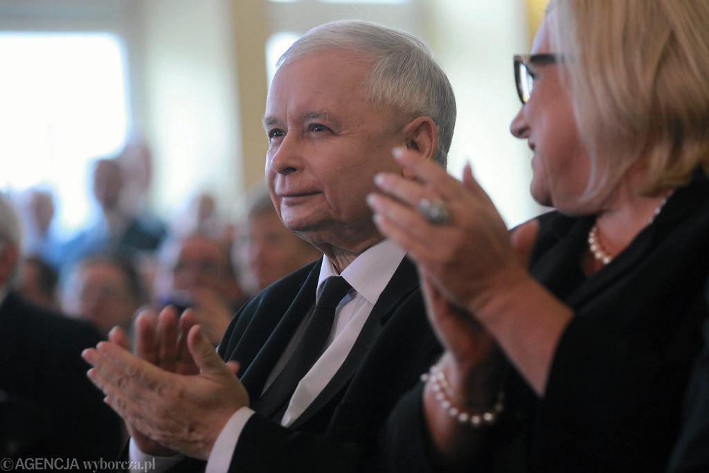 Jarosław Kaczyński i Beata Kempa