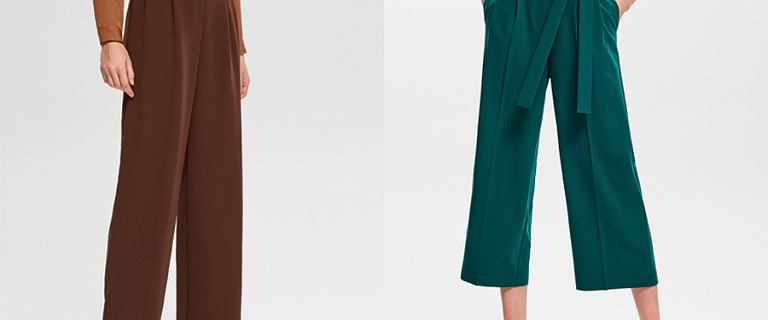 Kuloty i palazzo - najmodniejsze spodnie na wiosnę 2019