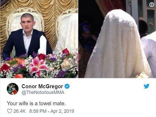 Conor McGregor wyśmiał żonę