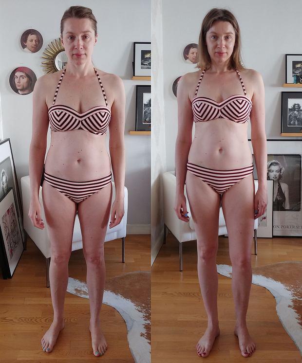Ola - PRZED po lewej i PO po prawej programie '28 dni Bikini Body'