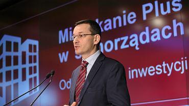Mateusz Morawiecki podczas konferencji Mieszkanie Plus. Warszawa, 12 grudnia 2016