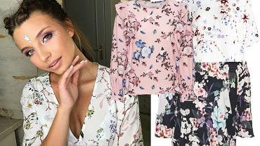 bluzki w kwiaty gwiazdy