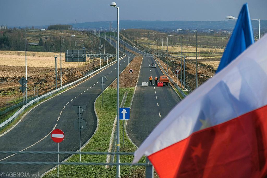 S19 w okolicach Rzeszowa, ta droga ekspresowa to część trasy Via Baltica