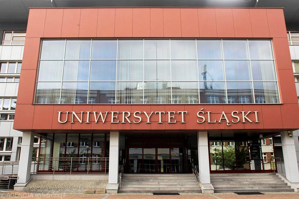 Rektorat Uniwersytetu Śląskiego w Katowicach.