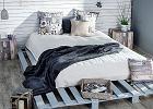 Łóżko z palet - sypialnia w stylu DIY
