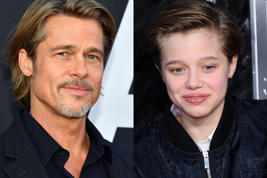 Shiloh Jolie-Pitt i Brad Pitt