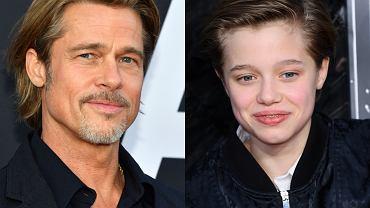 Córka Angeliny Jolie i Brada Pitta nalega na przeprowadzkę do taty.