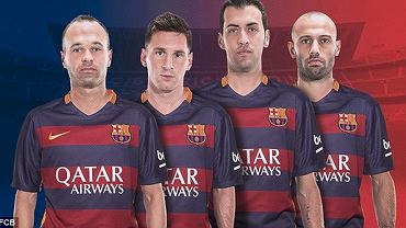 Andres Iniesta, Leo Messi, Sergio Busquets, Javier Mascherano